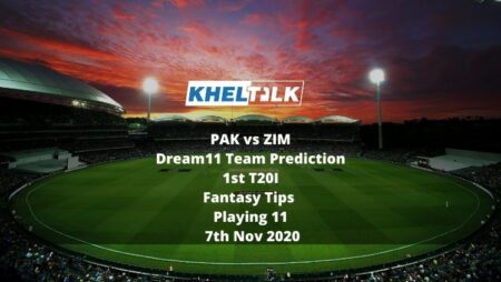 PAK vs ZIM Dream11 Team Prediction | 1st T20I | Fantasy Tips | Playing 11 | 7th Nov 2020
