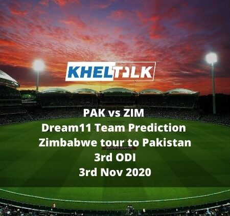 PAK vs ZIM Dream11 Team Prediction | Zimbabwe tour to Pakistan | 3rd ODI | 3rd Nov 2020