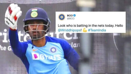 Watch: Wriddhiman Saha Is Back In Nets, Begins Recovery Process Ahead Of 1st Test Against Australia