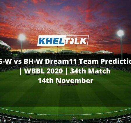 AS-W vs BH-W Dream11 Team Prediction | WBBL 2020 | 34th Match | 14th November
