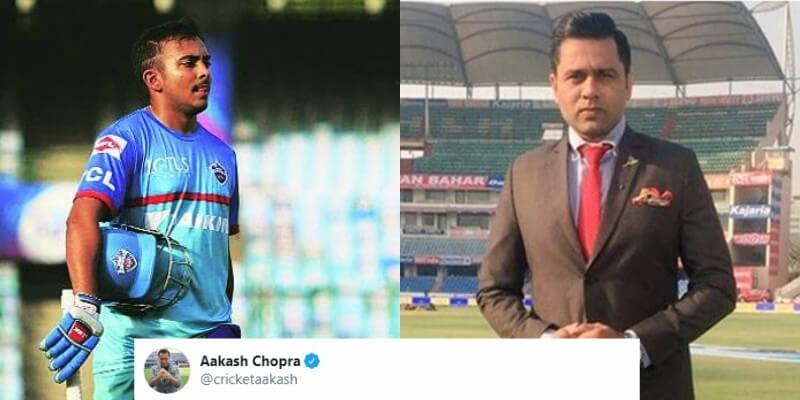 """My Way Or The Highway,""- Aakash Chopra Slams Rishabh Pant And Prithvi Shaw For Poor Show In IPL 2020"