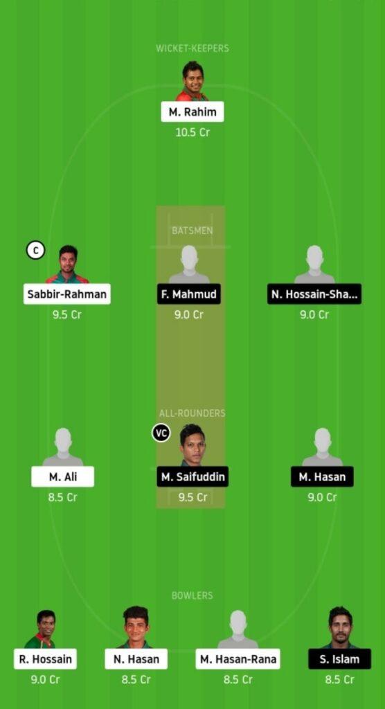 BDH vs MRA Dream11 Team Prediction | Match 01 | Bangladesh T20 | 24 Nov 2020 - grand league