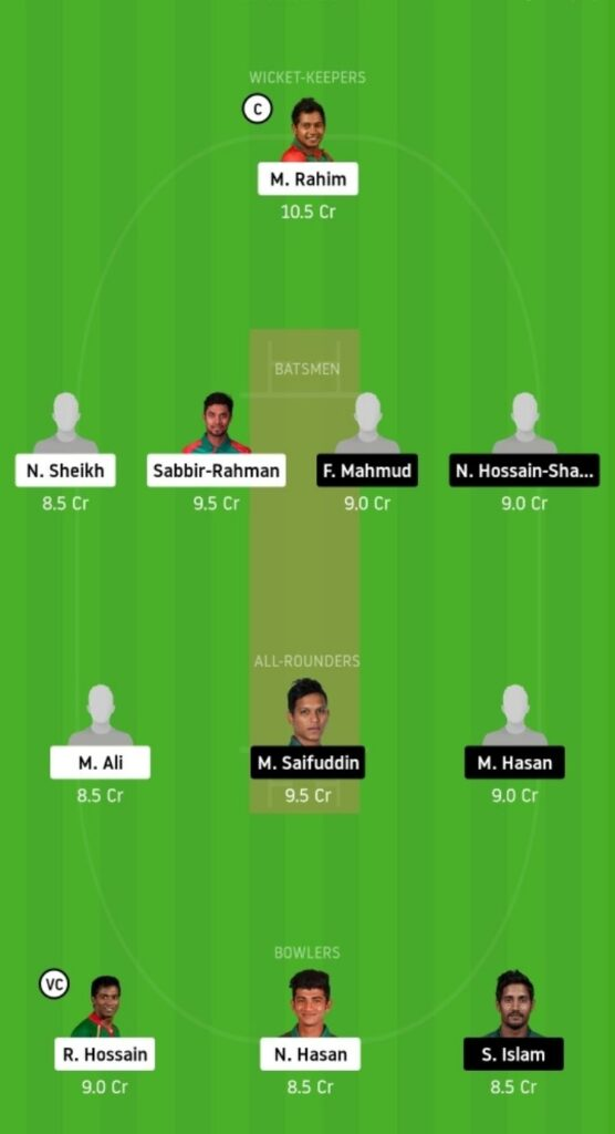 BDH vs MRA Dream11 Team Prediction | Match 01 | Bangladesh T20 | 24 Nov 2020 Head to Head