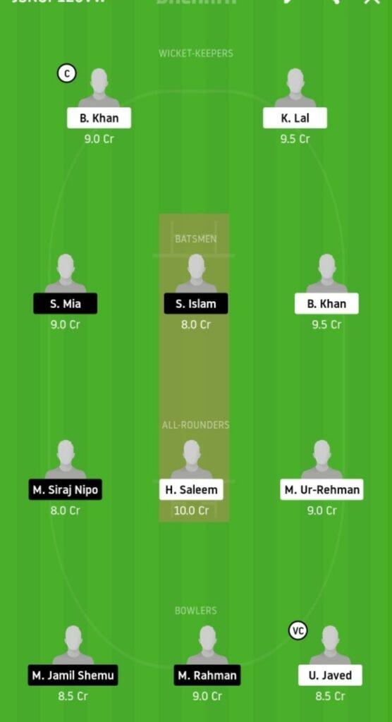 BSH vs KCC Dream11 Team Prediction   Match 10   ECS T10 Barcelona   11th Nov 2020 Grand League