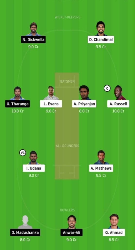 CK vs DV Dream11 Team Prediction _ Match 7 _ Lanka Premier League T20 _ 1st DEC 2020 Head to Head