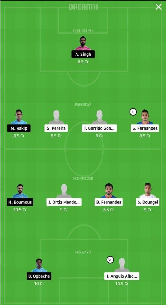 FCG vs MCFC Dream11 Match Prediction   Football Fantasy   India Super League   25 Nov 2020 grand league