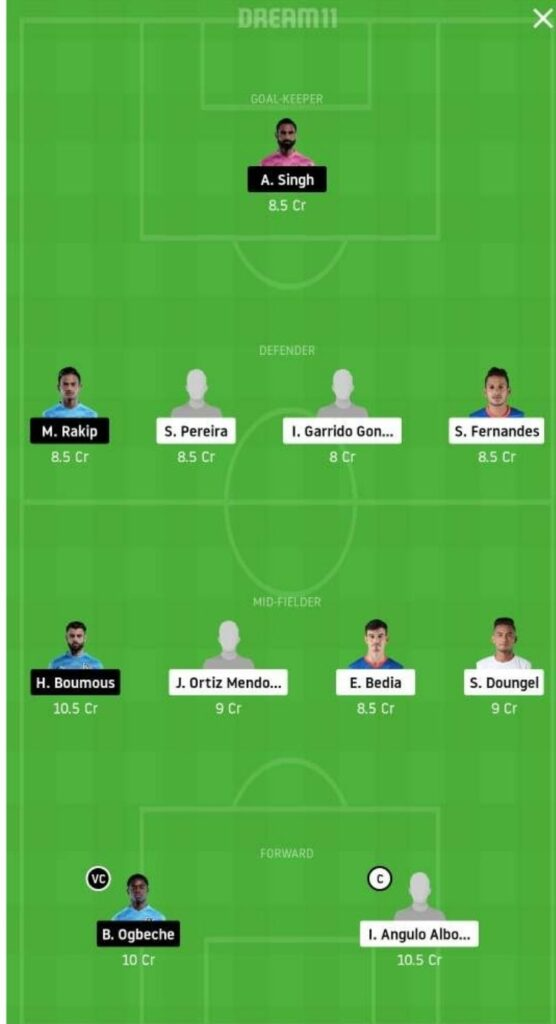 FCG vs MCFC Dream11 Match Prediction   Football Fantasy   India Super League   25 Nov 2020 head to head