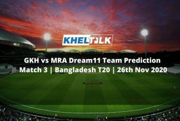 GKH vs MRA Dream11 Team Prediction   Match 3   Bangladesh T20   26th Nov 2020