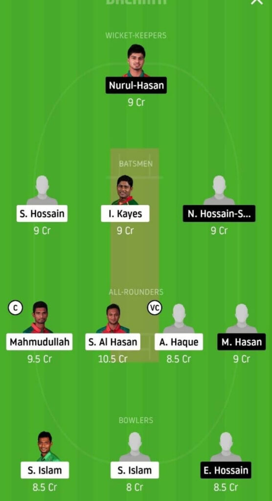 GKH vs MRA Dream11 Team Prediction | Match 3 | Bangladesh T20 | 26th Nov 2020 Grand league