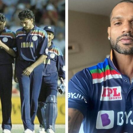 India vs Australia: Shikhar Dhawan Unveils The Kit, India To Wear 1992 World Cup Jersey In ODIs Against Australia