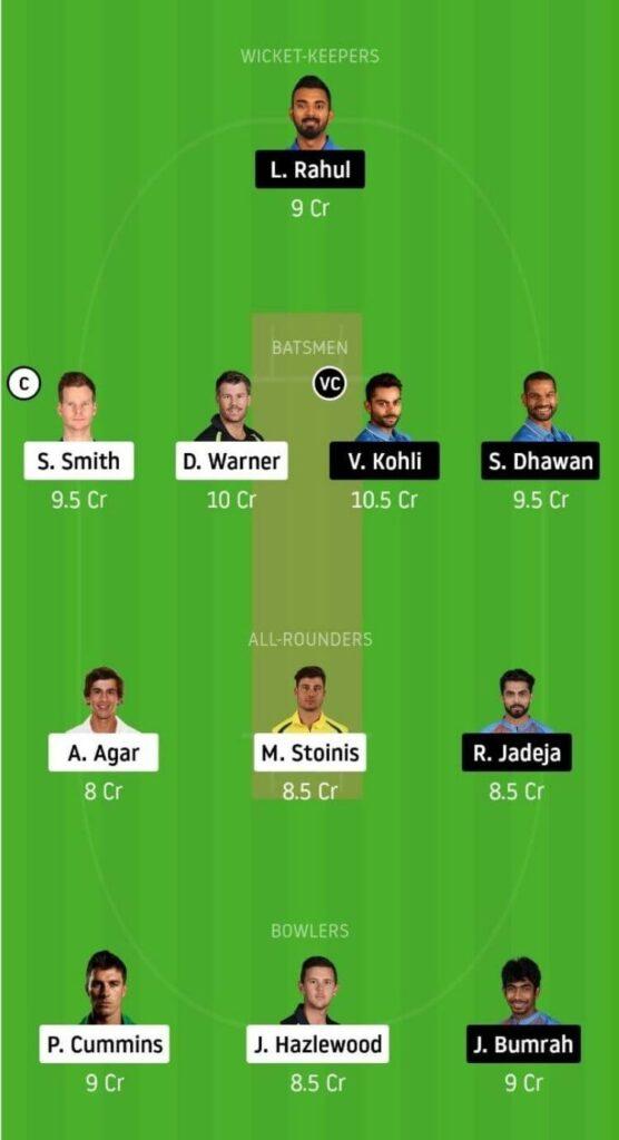 India vs Australia Dream11 Prediction 1st Odi - Head to Head