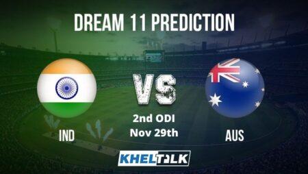 AUS vs IND Dream11 Team Prediction | 2nd ODI | Australia vs India | 29th Nov 2020