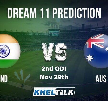 AUS vs IND Dream11 Team Prediction   2nd ODI   Australia vs India   29th Nov 2020