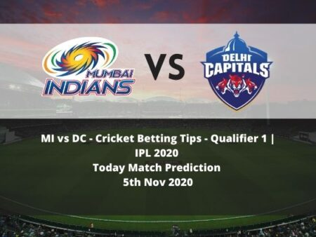 MI vs DC | Cricket Betting Tips | Qualifier 1 | IPL 2020 | Today Match Prediction | 5th Nov 2020