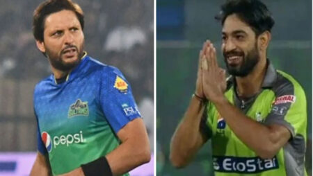 """PSL 2020- """"Please Bowl Slow To Me,""""-Shahid Afridi Hilarious Request To Haris Rauf After Getting Dismissed for Golden Duck"""