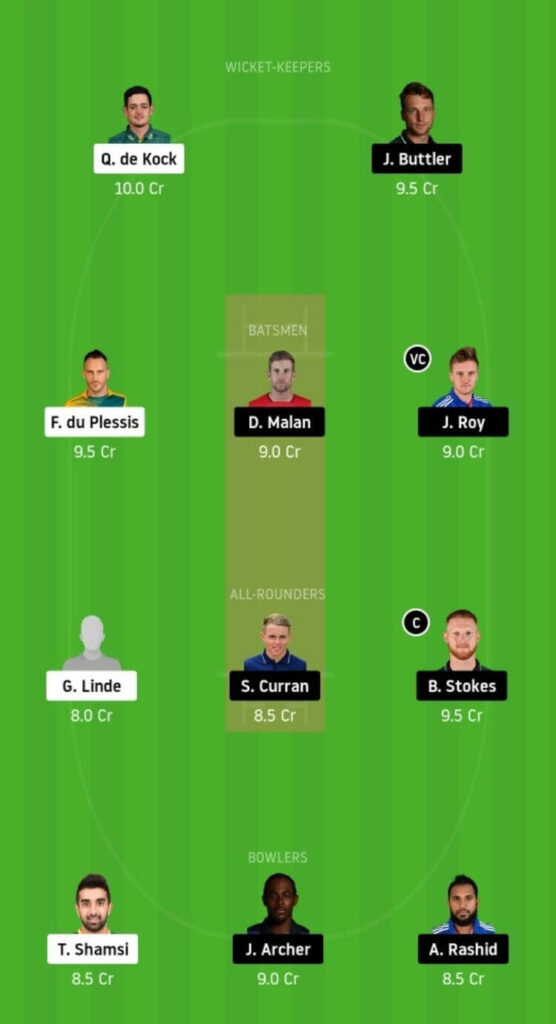 SA vs ENG Dream11 Team Prediction _ 3rd T20I _ South Africa vs England _ 01 Dec 2020 grand league