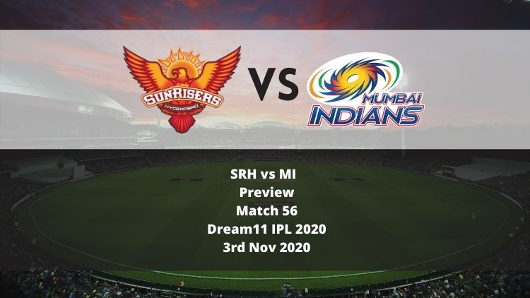 Dream11 IPL 2020: SRH vs MI Preview: MI Stands Between SRH and Their Playoff Spot