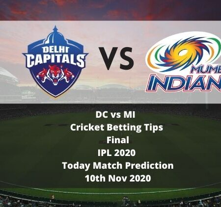 DC vs MI | Cricket Betting Tips | Final | IPL 2020 | Today Match Prediction | 10th Nov 2020