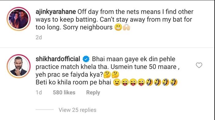 Shikhar Dhawan Trolls Ajinkya Rahane