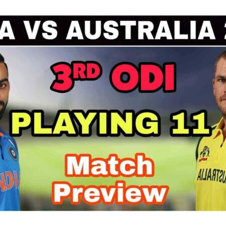 IND vs AUS Match Prediction: Who Will Win India vs Australia 3rd ODI, Playing 11, Match Details