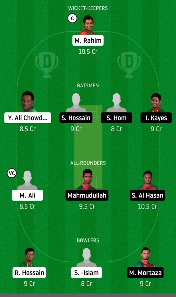 BDH vs GKH Dream11 Team Prediction