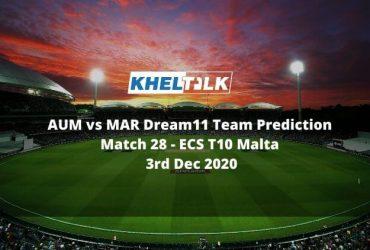 AUM vs MAR Dream11 Team Prediction _ Match 28 _ ECS T10 Malta _ 3rd Dec 2020