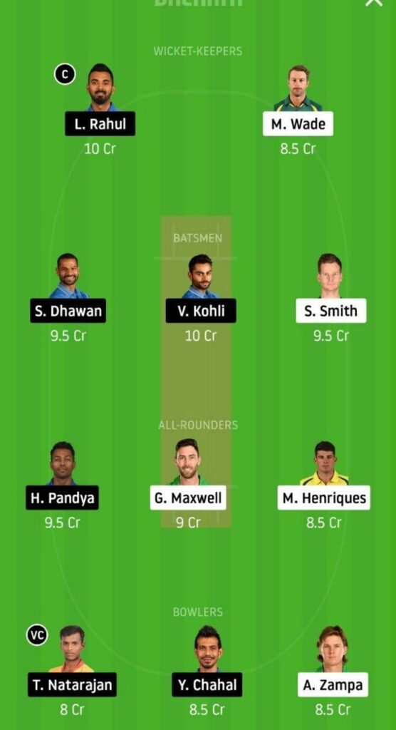 AUS vs IND Dream11 Team Prediction _ 3rd T20I _ India tour of Australia _ 8th Dec 2020 Head to head