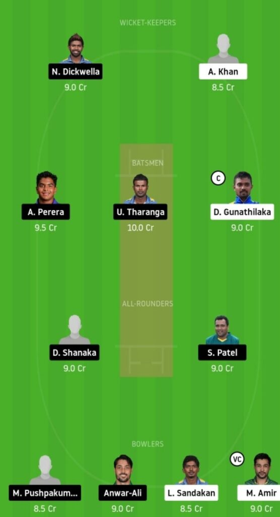 GG vs DV Dream11 Team Prediction | Match 17 | Lanka Premier League T20 | 09th Dec 2020 head to head