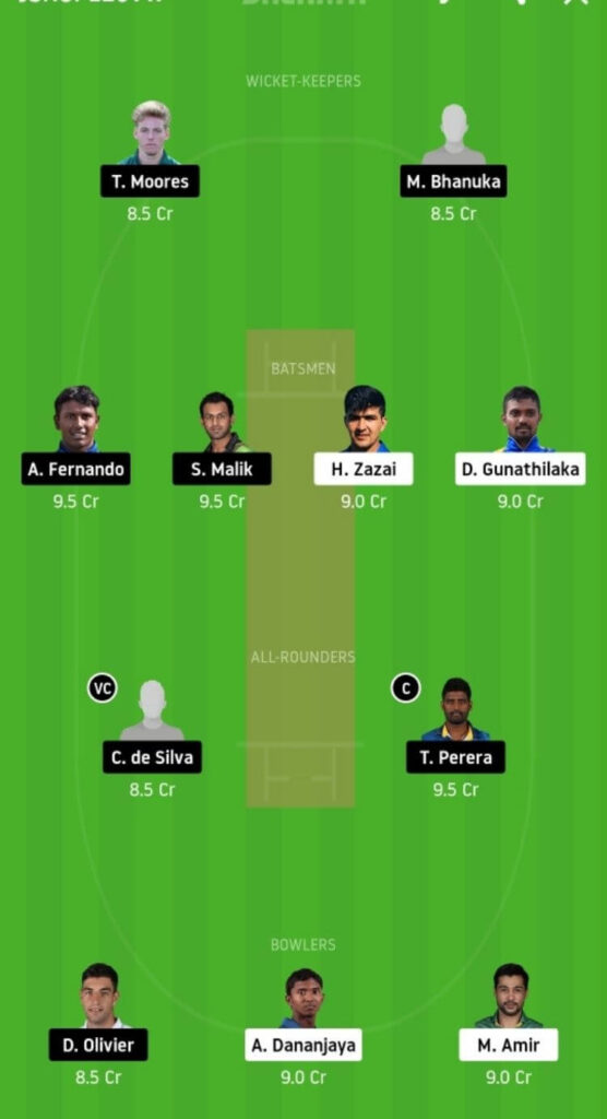 GG vs JS Dream11 Team Prediction | Match 9 | Lanka Premier League T20 | 3rd Dec 2020 grand league