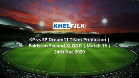 KP vs SP Dream11 Team Prediction | Pakistan Second XI ODD | Match 15 | 24th Dec 2020