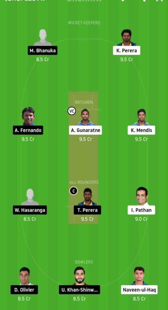 KT vs JS Dream11 Team Prediction _ Match 16 _ Lanka Premier League T20 _ 09th Dec 2020 grand league