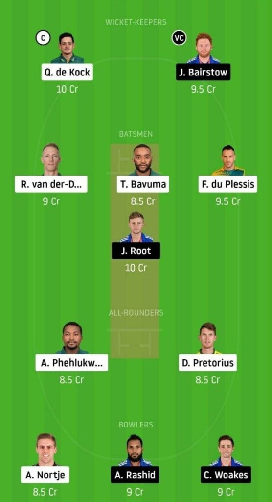 SA vs ENG Dream11 Team Prediction _ 1st ODI _ England tour of South Africa _ 4th Dec 2020 grand league