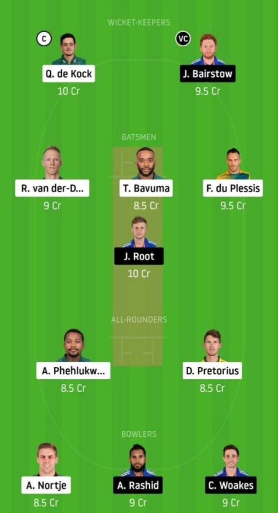 SA vs ENG Dream11 Team Prediction _ 1st ODI _ England tour of South Africa _ 4th Dec 2020 grand league