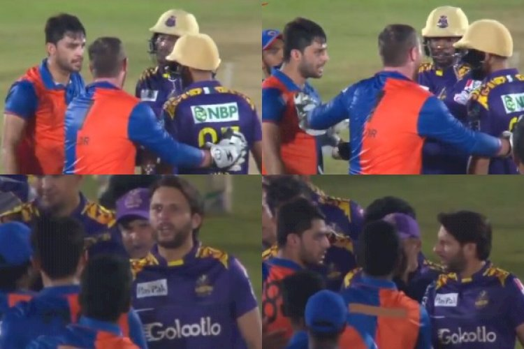 Watch: Shahid Afridi Engages In Fiery Exchange With Naveen-ul-Haq After The Pacer Abused Mohammad Amir