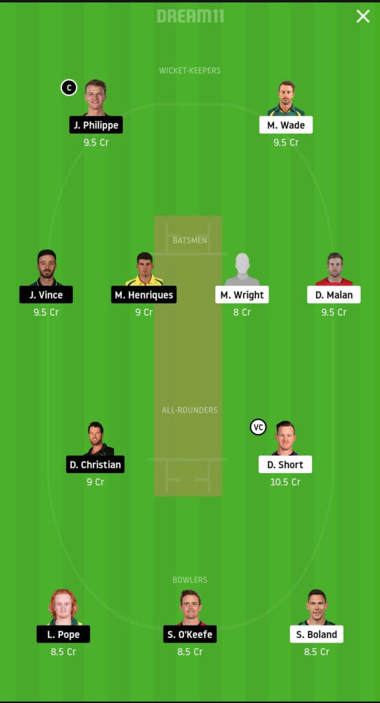 HUR vs SIX Dream11
