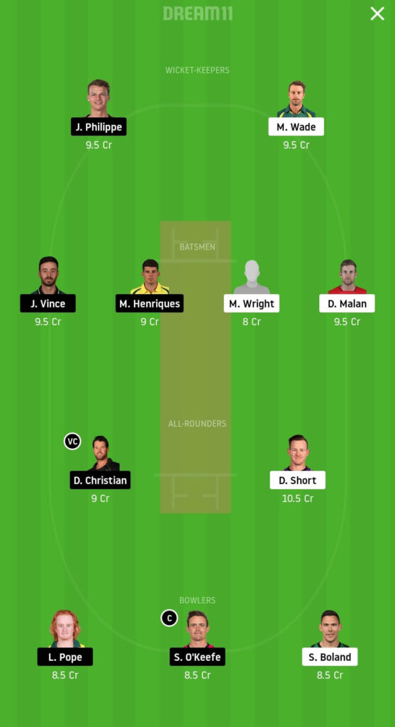 HUR vs SIX Dream11 Team Prediction