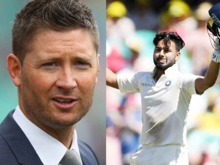 'Absolute Superstar'-Michael Clarke Impressed With Rishabh Pant Following His Match-Winning 89* Knock In Brisbane