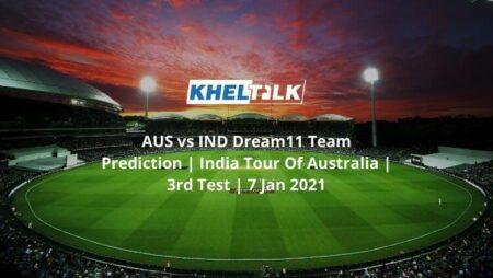 AUS vs IND Dream11 Team Prediction   India Tour Of Australia   3rd Test   7 Jan 2021