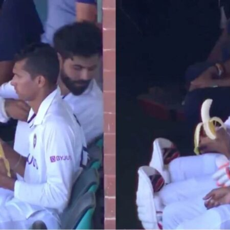 WATCH: Cute Video Clip Gets Viral. Navdeep Saini Peeling Banana For Ravindra Jadeja