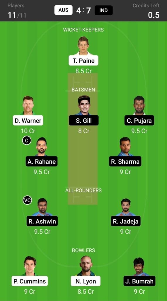 grand league ind vs aus