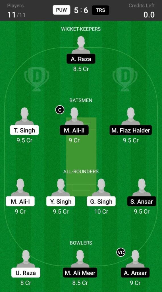 Grand League Team For Prediction Trinitat Royal Stars vs Punjab Warriors