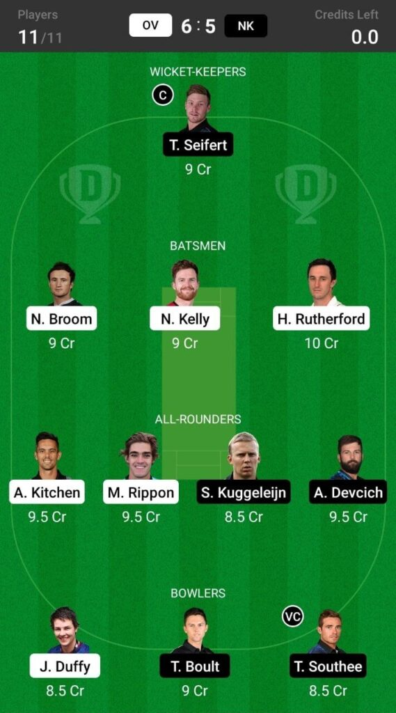Head To Head Team For Otago Volts vs Northern Knights