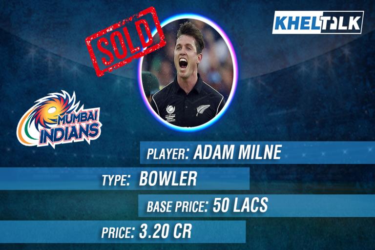 Adam Milne IPL 2021