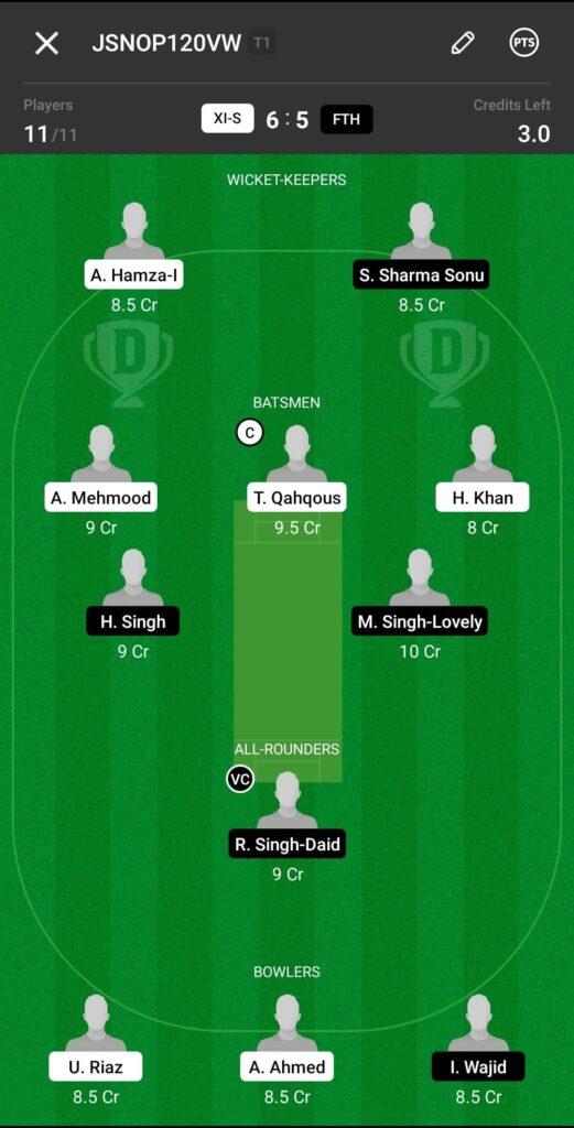 Head To Head Team For XI Stars vs Fateh