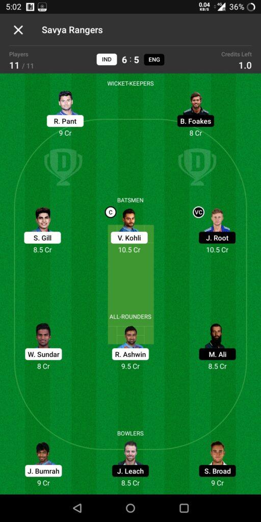 Head To Head (India vs England)