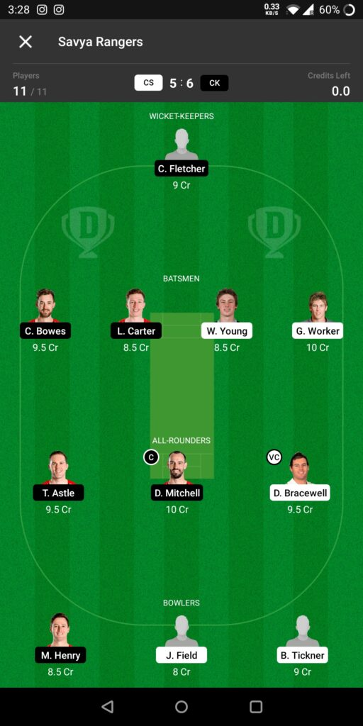 Head To Head Team For Central Stags vs Canterbury