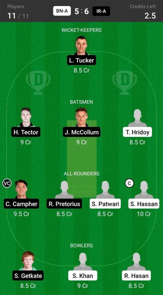 Grand League Team For Bangladesh-A vs Ireland-A