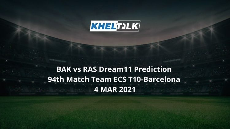 BAK vs RAS Dream11