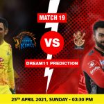 CSK vs RCB Dream11 Prediction Match 19 Team by Expert IPL 25 April   Kheltalk Fantasy cricket