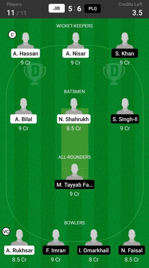 Grand League Team For JIB vs PLG